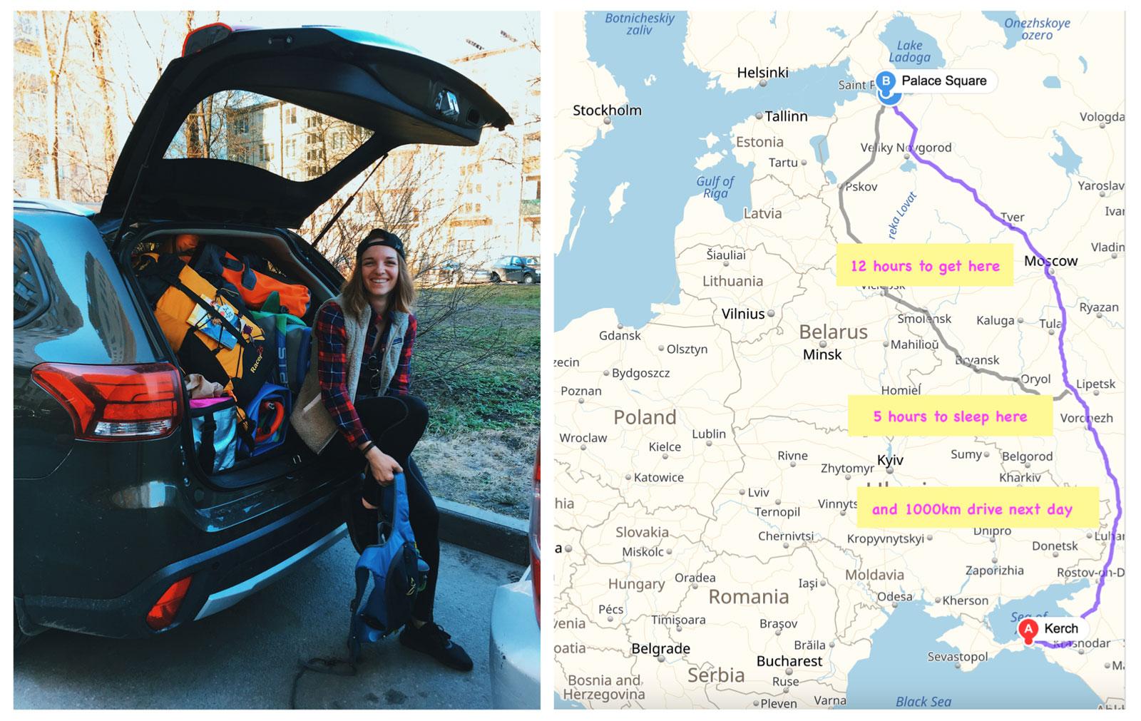 julia-karpacheva-paddleboarding-russia-black-sea-roadtrip-map