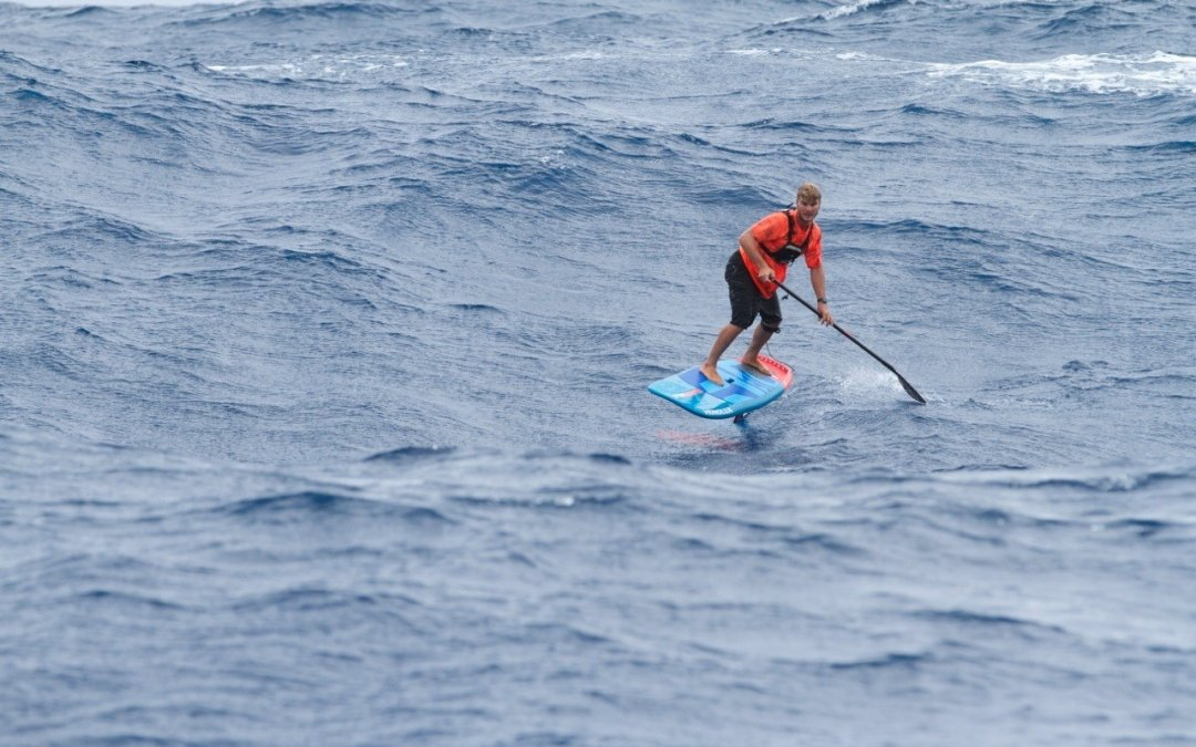 Zaniac Wins Maui to Moloka'i Crossing, Sets New Record on SUP Hydrofoil