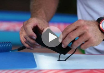 HOW TO ATTACH A LEASH TO THE STARBOARD RACE SUP