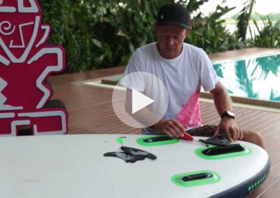 HOW TO INSTALL FINS ON STARBOARD RACE BOARD