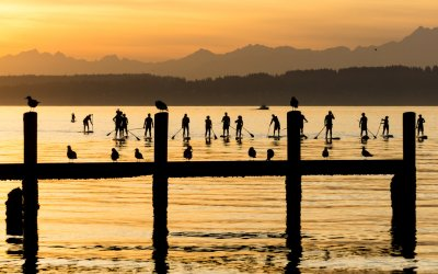 Fiona Wylde SUP Clinic hosted by Elks Club, Seattle