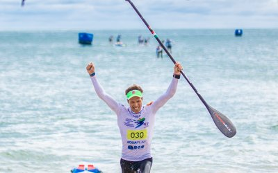 Daniel Hasulyo Takes the 2018 ISA SUP Men's Tech Race Gold Medal