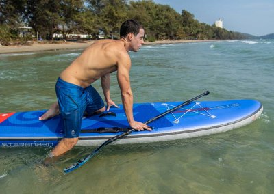 How to get on stand up paddle board