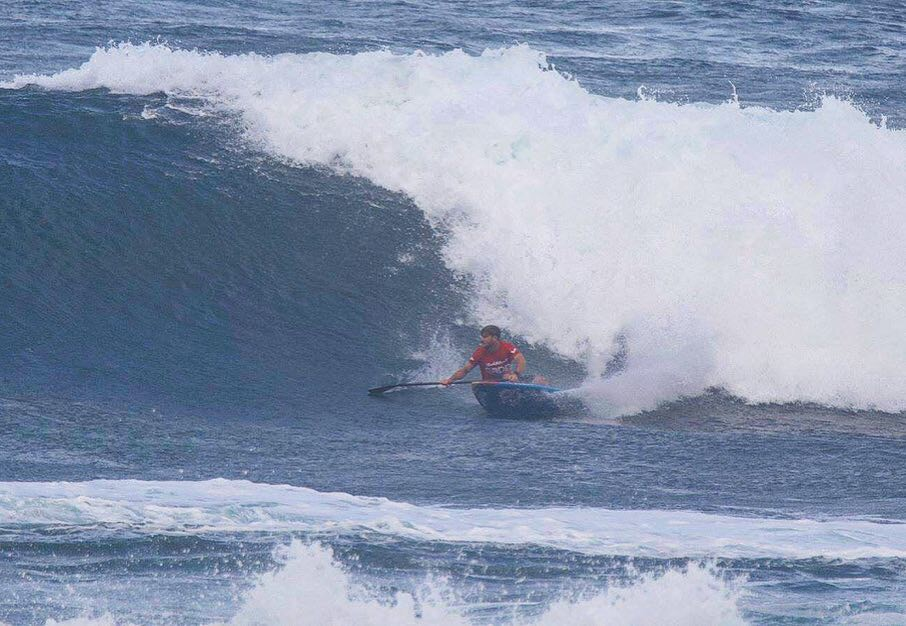 Starboard-Stand-Up-Paddleboarding-SUP-Surf-Zane's-2019-Sunset-Beach-Pro-Recap-Bottom-Turn