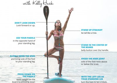 How to SUP Yoga Tree Pose