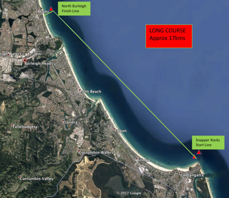 12-Towers-Downwind-SUP-Long-Course-Gold-Coast-Australia-course-map