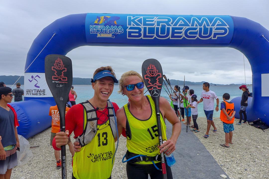 2019 kerama blue zamami island starboard sup sonni and daniel finish line