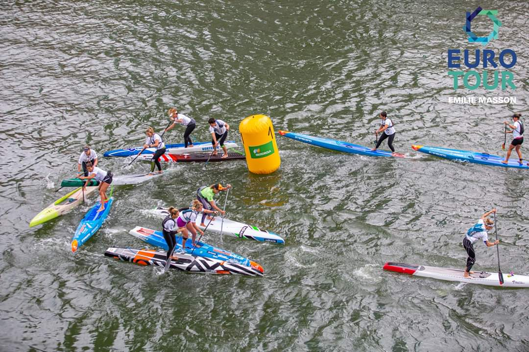 2019 Bilbao World SUP Challenge SUP Euro Tour Womens Start guggenheim museum bilbao buoy turn