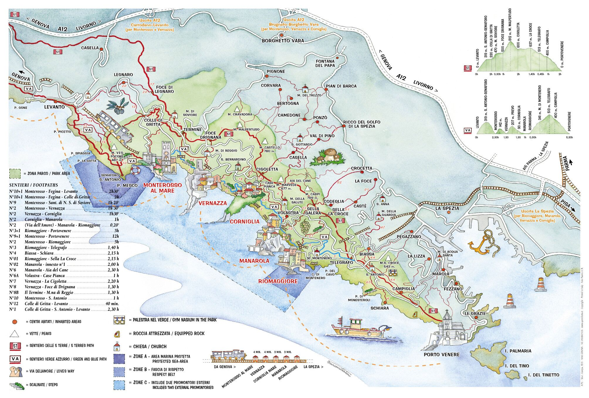The Three-Day Effect in Italy with Linzi Hawkin Cinque Terre Stand Up Paddleboarding adventure-map