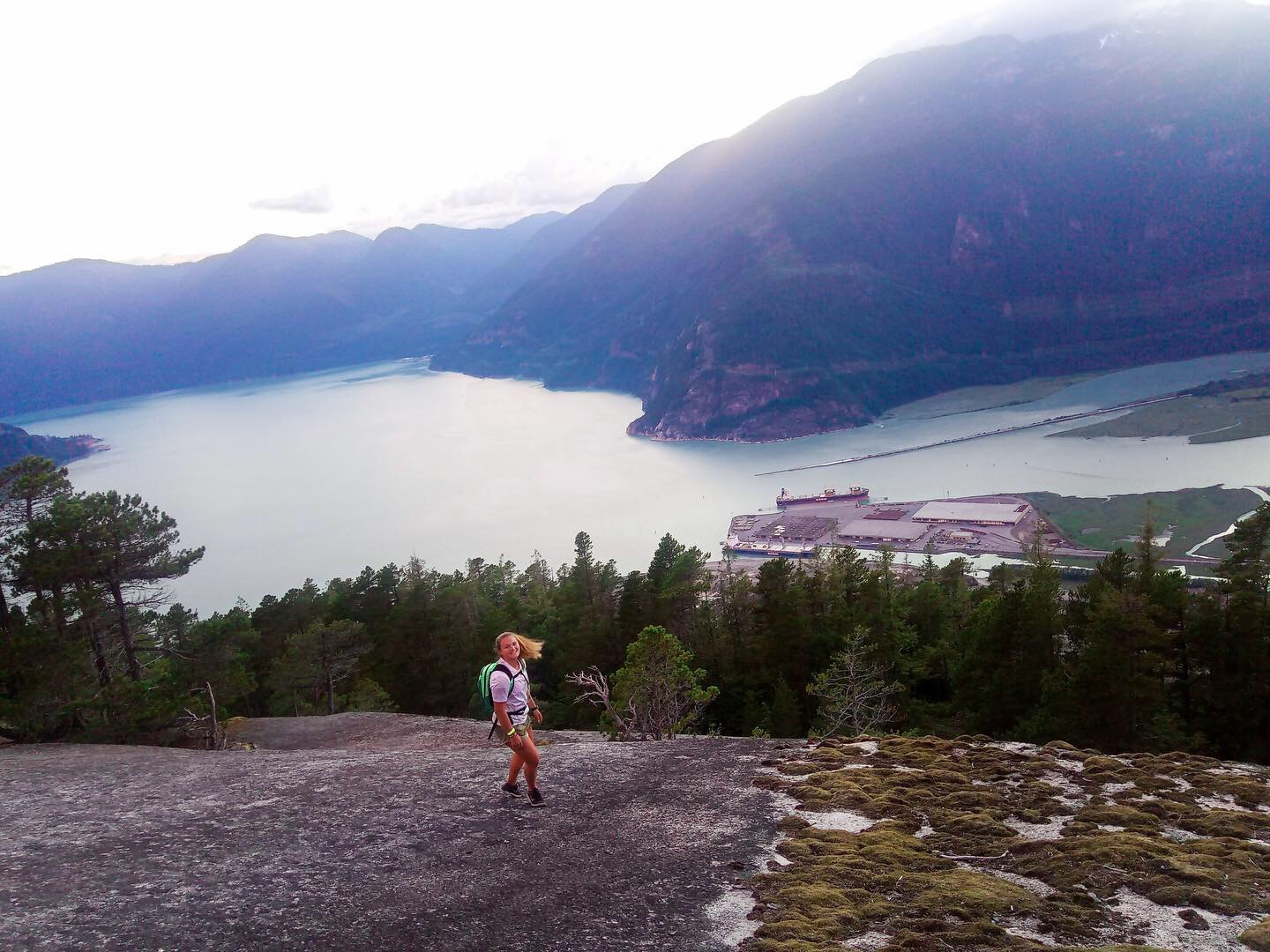 Fiona Wylde Scores at Canadian Downwind Champs in Squamish, BC 4 lake view