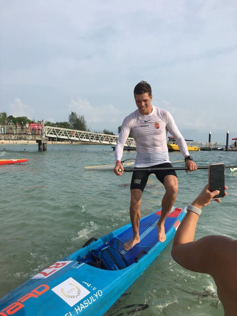 Singapore Ocean Cup 2019 Daniel Hasulyo at finish