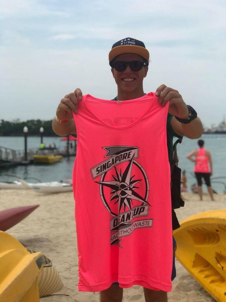 Singapore Ocean Cup 2019 Daniel Hasulyo Pink Race Vest